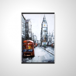 Magnetic 20 x 30 - 3D - Abstract london and red bus