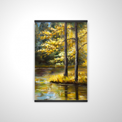 Magnetic 20 x 30 - 3D - Fall landscape by the water