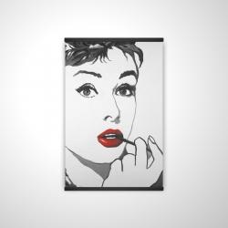Magnetic 20 x 30 - 3D - Audrey hepburn outline style