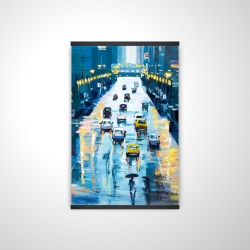 Magnetic 20 x 30 - 3D - Rainy streets of new york