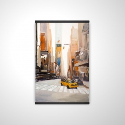 Magnetic 20 x 30 - 3D - Calm street with taxi