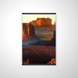 Magnetic 20 x 30 - 3D - Monument valley tribal park in arizona