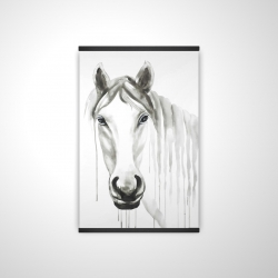 Magnetic 20 x 30 - 3D - Solitary white horse