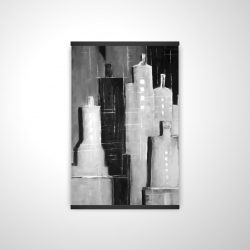 Magnetic 20 x 30 - 3D - Abstract black and white cityscape
