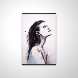 Magnetic 20 x 30 - 3D - Watercolor beautiful woman with dark hair