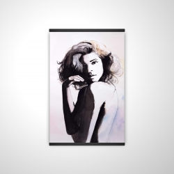 Magnetic 20 x 30 - 3D - Watercolor beautiful young woman