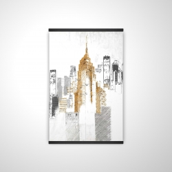 Magnetic 20 x 30 - 3D - Blurry sketch style cityscape