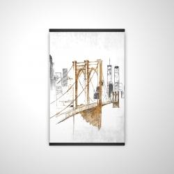 Magnetic 20 x 30 - 3D - Brooklyn bridge blurry sketch