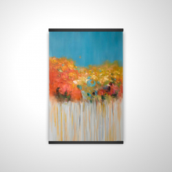 Magnetic 20 x 30 - 3D - Colorful abstract small flowers