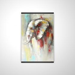 Magnetic 20 x 30 - 3D - Abstract paint splash elephant