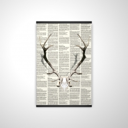 Magnetic 20 x 30 - 3D - Deer horns on newspaper