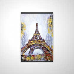 Magnetic 20 x 30 - 3D - Abstract paint splash eiffel tower