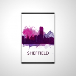 Magnetic 28 x 42 - 3D - Sheffield city color splash silhouette