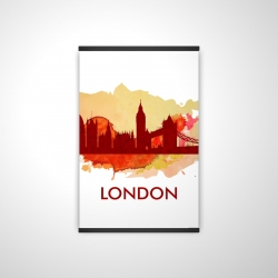 Magnetic 20 x 30 - 3D - Paint splash silhouette of london