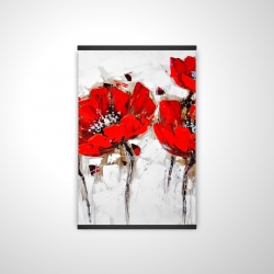 Magnetic 20 x 30 - 3D - Red poppies with texture