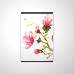 Magnetic 20 x 30 - 3D - Watercolor magnolia flowers