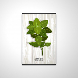 Magnetic 20 x 30 - 3D - Oregano on wood