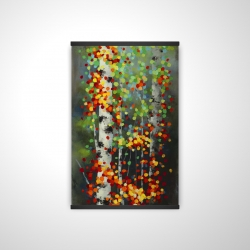 Magnetic 20 x 30 - 3D - Colorful dotted leaves birches