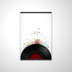 Magnetic 20 x 30 - 3D - Notes escaping from a vinyl record