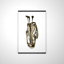 Magnetic 20 x 30 - 3D -  illustration of a golf bag
