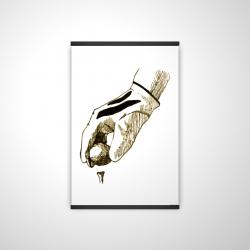 Magnetic 20 x 30 - 3D - Illustration of a golf glove