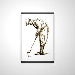 Magnetic 20 x 30 - 3D - Illustration of a concentrated golfer