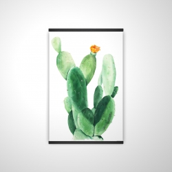 Magnetic 20 x 30 - 3D - Watercolor paddle cactus with flower