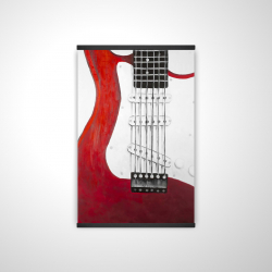 Magnetic 20 x 30 - 3D - Red electric guitar