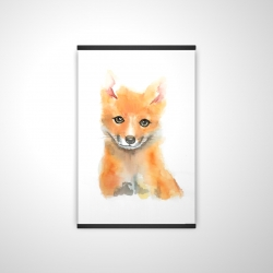 Magnetic 20 x 30 - 3D - Watercolor baby fox