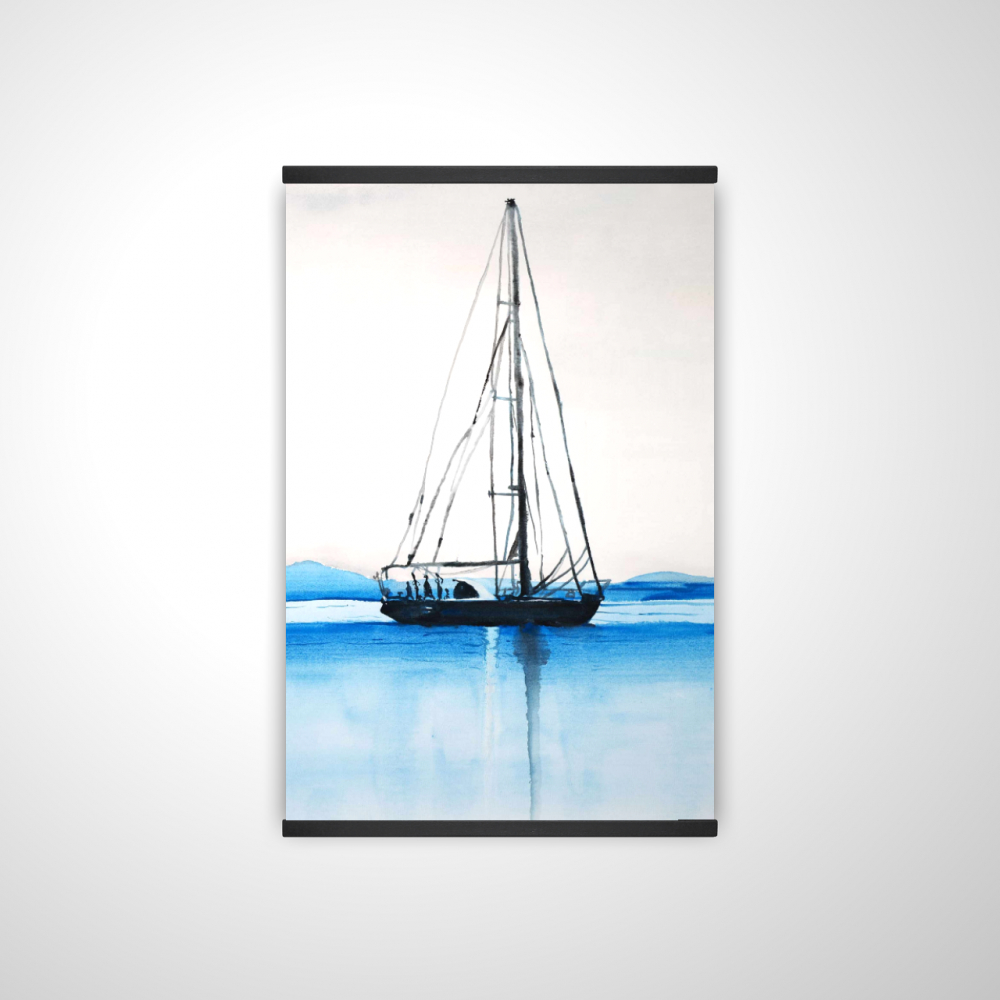 Sailboat on a calm water