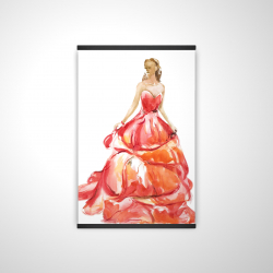 Magnetic 20 x 30 - 3D - Beautiful red prom dress