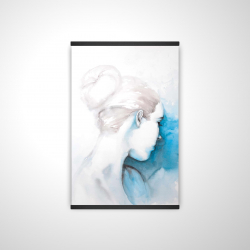 Magnetic 20 x 30 - 3D - Watercolor abstract girl with hair bun