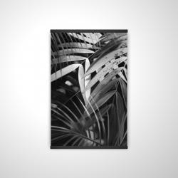 Magnetic 20 x 30 - 3D - Monochrome tropicals leaves