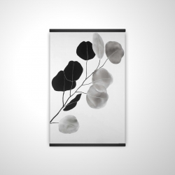 Magnetic 20 x 30 - 3D - Grayscale branch with round shape leaves