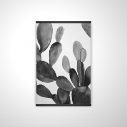 Magnetic 20 x 30 - 3D - Grayscale cactus