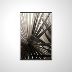 Magnetic 20 x 30 - 3D - Grayscale tropical plants
