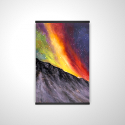 Magnetic 20 x 30 - 3D - Aurora borealis in the mountain