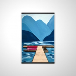 Magnetic 20 x 30 - 3D - Lake, quai & mountains