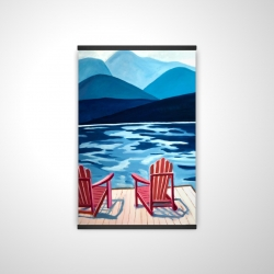 Magnetic 20 x 30 - 3D - Lake, dock, mountains & chairs