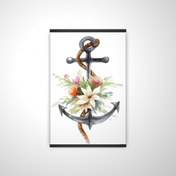 Magnetic 20 x 30 - 3D - Anchor with flowers