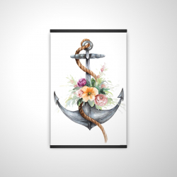Magnetic 20 x 30 - 3D - Boat anchor with flowers