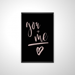 Magnetic 20 x 30 - 3D - You + me