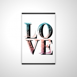 Magnetic 20 x 30 - 3D - Colorful love