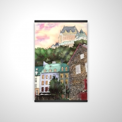 Magnetic 20 x 30 - 3D - Château frontenac in the petit champlain