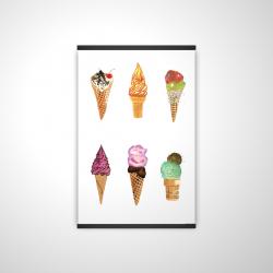 Magnetic 20 x 30 - 3D - Ice cream cones