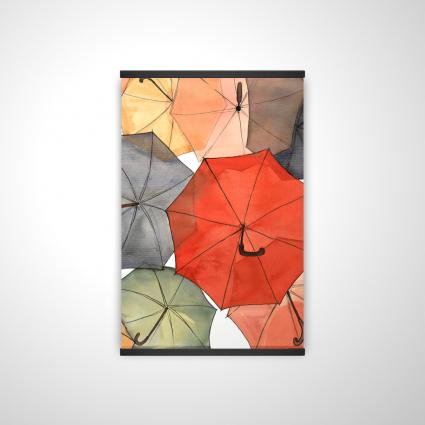 The umbrellas of petit champlain