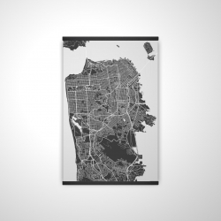 Magnetic 20 x 30 - 3D - San francisco city plan