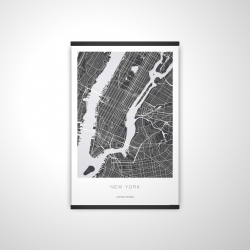 Magnetic 20 x 30 - 3D - New york graphic map