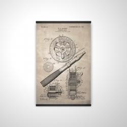 Magnetic 20 x 30 - 3D - Beige blueprint of a fishing reel