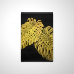 Magnetic 20 x 30 - 3D - Gold monstera